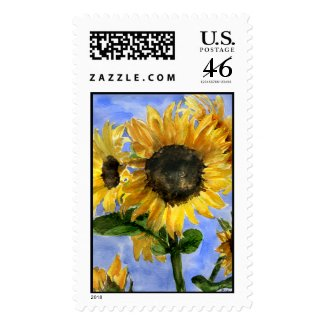Sunflower 01 Custom Postage stamp