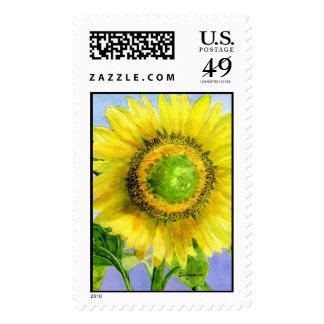Sunflower 03 Painting Custom Postage Stamp