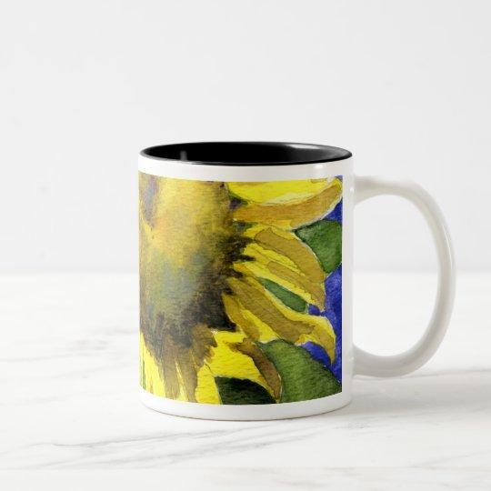 Sunflower 04 Painting Mug Watercolor Art