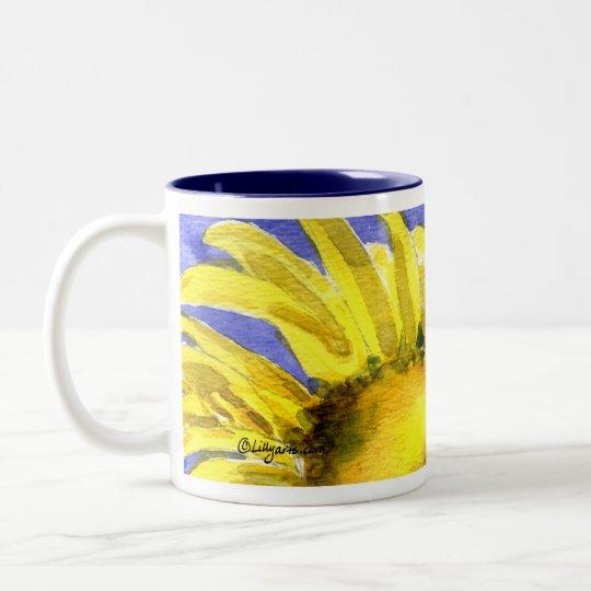 Sunflower 05 Painting Mug Watercolor Art