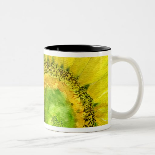 Sunflower 07 Painting Mug Watercolor Art