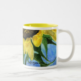 Sunflower 08a Painting Mug Watercolor Art