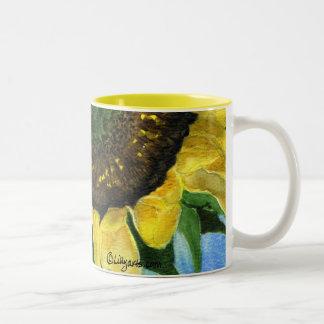 Sunflower 08b Painting Mug Watercolor Art