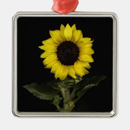 Sunflower 11 metal ornament