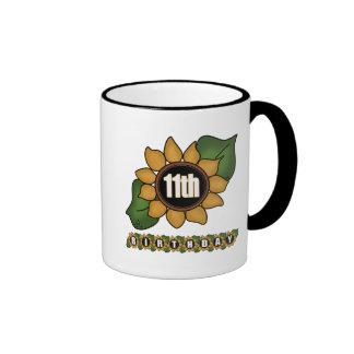 Sunflower 11th Birthday Gifts Coffee Mug
