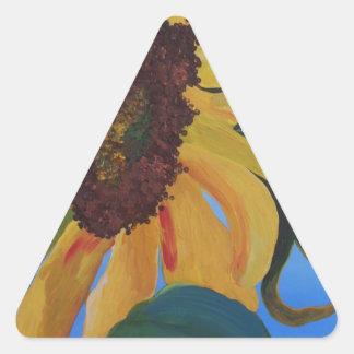 Sunflower 1.JPG Triangle Sticker