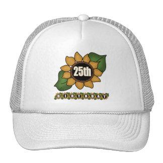 Sunflower 25th Birthday Gifts Trucker Hat