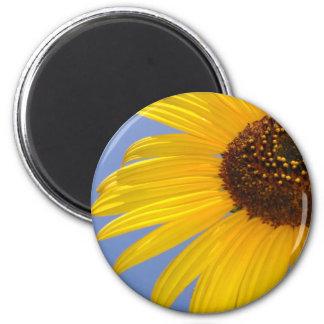 Sunflower 2 Inch Round Magnet