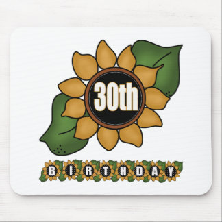 Sunflower 30th Birthday Gifts Mouse Pad