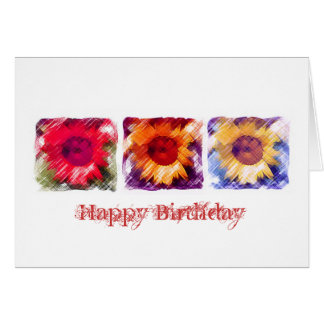 Sunflower 3 - Birthday Card