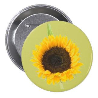 Sunflower 3 Inch Round Button