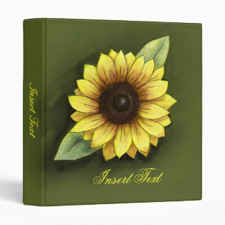 Sunflower 3 Ring Binder