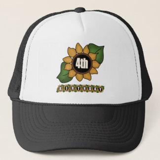 Sunflower 4th Birthday Gifts Trucker Hat