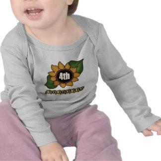 Sunflower 4th Birthday Gifts T Shirt
