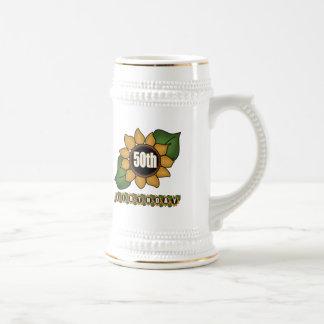 Sunflower 50th Birthday Gifts 18 Oz Beer Stein