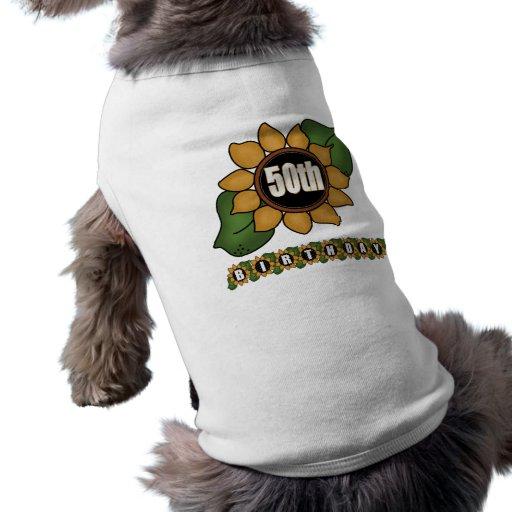 Sunflower 50th Birthday Gifts Pet Tee