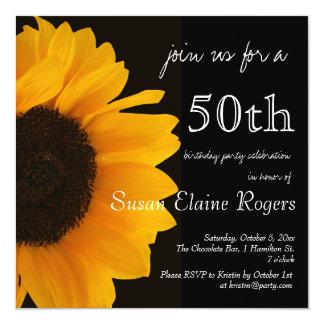 Sunflower 50th Birthday Invitation