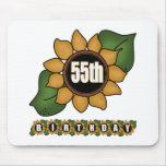 Sunflower 55th Birthday Gifts Mouse Pad
