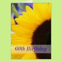 Sunflower 60th Birthday Party Card