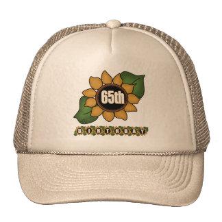 Sunflower 65th Birthday Gifts Trucker Hats