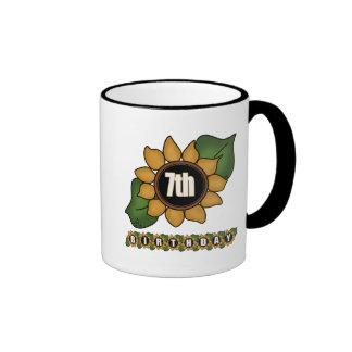 Sunflower 7th Birthday Gifts Coffee Mug