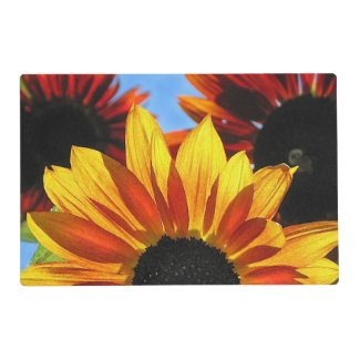 Sunflower Abstract Laminated Placemat