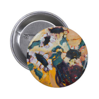 Sunflower Abstract Pinback Button