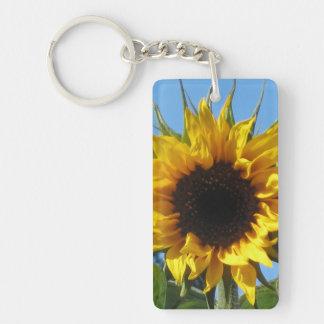 Sunflower - Acrylic Rectangle Single Sided Keyring Keychain