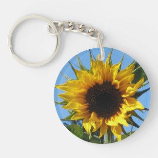 Sunflower - Acrylic Round Single Sided Keyring Keychain