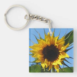 Sunflower - Acrylic Single Sided Square Keychain