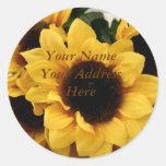 Sunflower Address Label Stickers