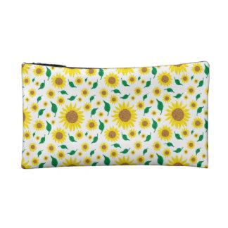 Sunflower adorned cosmetic bag
