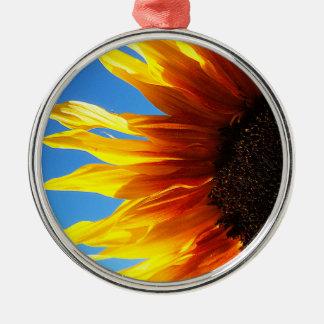 Sunflower Aflame Premium Ornament