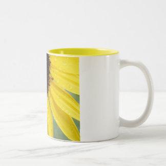 Sunflower After The Rain Two-Tone Coffee Mug
