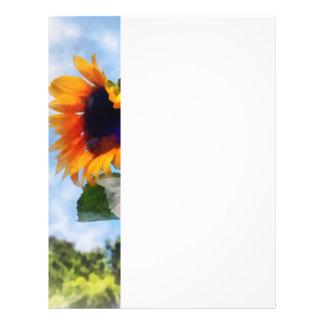 Sunflower Against the Sky Flyer