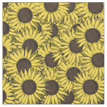 sunflower allover print fabric
