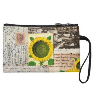Sunflower Ancient Rome Italian Wristlet Bag