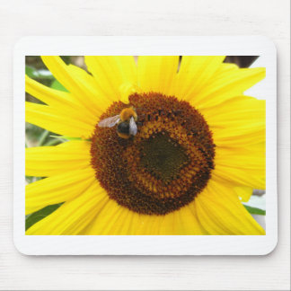 Sunflower and a Bee Mousepads