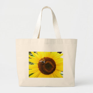 Sunflower and a Bee Tote Bags