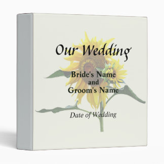 Sunflower And Baby Wedd\ing Products Binder