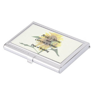Sunflower And Baby Wedd\ing Products Business Card Case