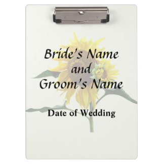 Sunflower And Baby Wedd\ing Products Clipboard