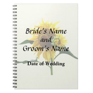 Sunflower And Baby Wedd\ing Products Notebook
