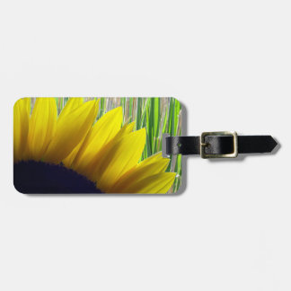 Sunflower and Bamboo Luggage Tag