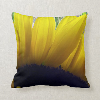 Sunflower and Bamboo Throw Pillow