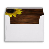Sunflower and Barn Wood Envelope