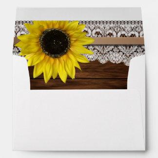 Sunflower and Barn Wood Envelope
