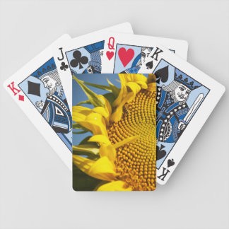 Sunflower and Bee Bicycle Playing Cards