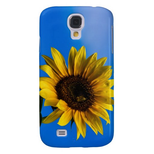 Sunflower and bee galaxy s4 covers