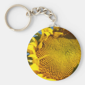 Sunflower and Bee Keychain
